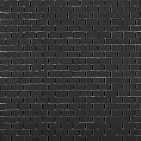 CLAY41 4100311 mosaic bricky black 30x30