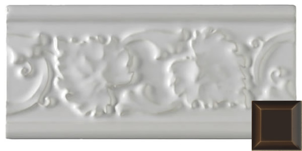 Classic leaf moulding chocolate 152x76x9mm