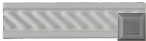 Classic cable moulding victorian grey 152x38x9mm
