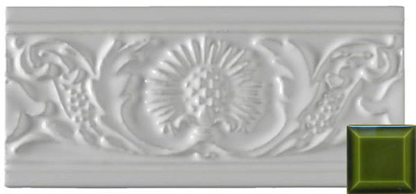 Classic thistle moulding jade green 152x76x9mm